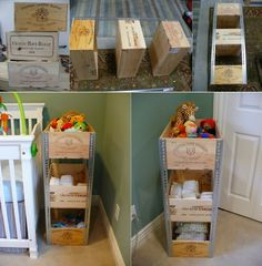 Diy Projects: DIY Wine Crate Shelves