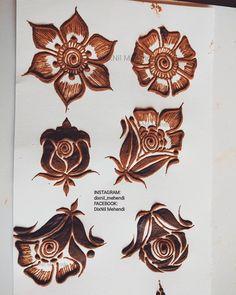 different types of flowers 😊😃🏵️🌸💮💐🌷 Palm Henna Designs, Indian Henna Designs, Khafif Mehndi Design, Beginner Henna Designs, Mehndi Designs 2018, Modern Mehndi Designs, Mehndi Design Pictures, Wedding Mehndi Designs, Beautiful Mehndi Design