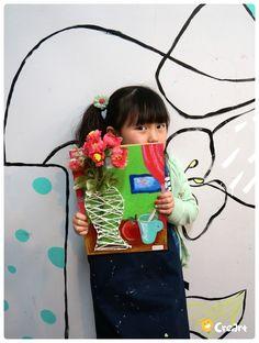 Kinder (초등) 수업 - 스트링 아트 (꽃병) [시흥시 정왕동 배곧 미술학원 - 크리아트] : 네이버 블로그 Easy Crafts For Kids, Projects For Kids, Art Projects, Art Lessons For Kids, Art For Kids, Art Floral, Arts And Crafts, Paper Crafts, Mothers Day Crafts