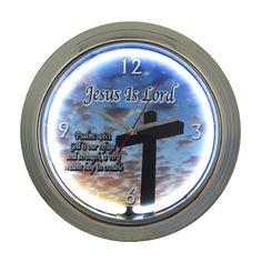 MISUE 15-INCH Jesus Is Lord illuminated Neon Wall Clock