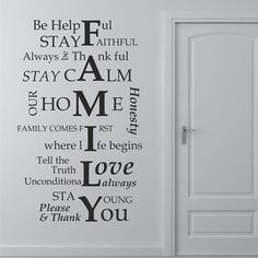 Be Helpful FAMILY Inspirational Quotes Wall Decal Home Room Wall Sticker Decor #Budgettank #Modern