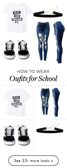 """""""teens school outfit"""" by emilyleannvaughn on Polyvore featuring MANGO"""
