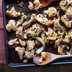 Roasted Cauliflower with Lemon-Parsley Dressing