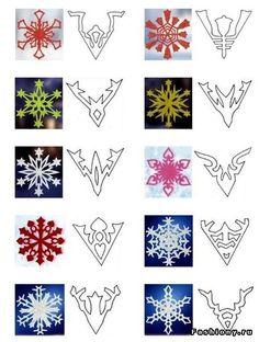 Бумажный снегопад / красивая бумажная снежинка
