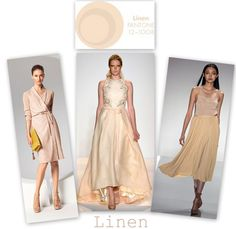 Linen - love love the dress on the right!!