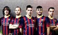 Barcelona Stars : Neymar: I wish to repeat the achievements of Romario, Rivaldo and Ronaldinho with Barcelona Barcelona Team, Fc Barcelona Players, Barca Real, Barcelona Pictures, Messi And Neymar, Best Football Team, Football Fever, Cs Go, Badminton
