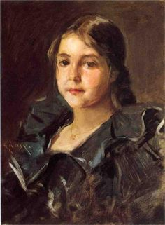 William Merritt Chase (American, 1849-1916) : Portrait of Helen Velasquez Chase. Private collection.