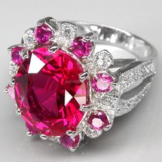 Rosamaria G Frangini | High Pink Jewellery | Pink and White Sapphire and Ruby