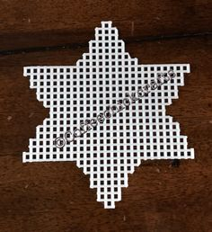 Hanukkah Star of David Plastic Canvas Cut Out by CoffeeChickCrafts (Diy Cutting Board Plastic) Plastic Canvas Stitches, Plastic Canvas Coasters, Plastic Canvas Ornaments, Plastic Canvas Crafts, Plastic Canvas Patterns, Jewish Crafts, Pixel Pattern, Plastic Canvas Christmas, Beaded Cross Stitch