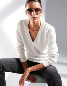 Strickpullover aus Kaschmir, grau/melange, grau | MADELEINE Mode Madeleine Fashion, Pulls, Mens Tops, T Shirt, Outfits, Shabby Chic, Stuff Stuff, Cashmere Wool, Tricot