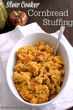 Slow Cooker Cornbread Stuffing Save space in your oven this holiday season and cook this stuffing right in the slow cooker!