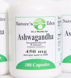 Ashwagandha - 3 Month Supply - 450mg Anti Anxiety and Insomnia Relief #NaturesEden