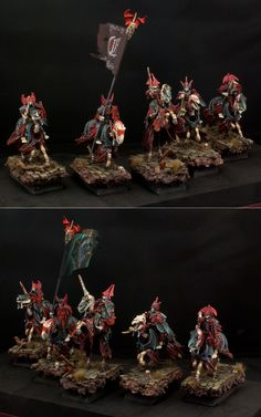 The Internet's largest gallery of painted miniatures, with a large repository of how-to articles on miniature painting Warhammer Paint, Warhammer Models, Warhammer Fantasy, Warhammer Aos, Fantasy Battle, Medieval Fantasy, Warhammer Vampire Counts, Death Knight, Warhammer 40k Miniatures