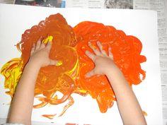 barregem colors de tardor en una cartolina i fer un quadre de tardor!! xaxi