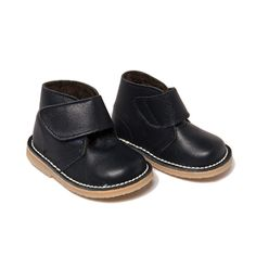 2c9b786bfd0d Safari Faux Fur Lined Nappa Leather Velcro Boots In Midnight Blue Line
