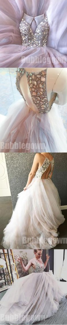 Beaded Top Open Back Charming Popular Cheap Long Evening Prom Dresses M1063
