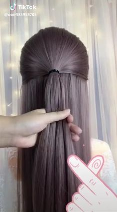 hairstyle_biing's short video with ♬ original sound – hairstyle_biing styles coiffure amour mode femmes Pretty Hairstyles, Braided Hairstyles, Girl Hair Dos, Hair Upstyles, Hair Videos, Hairstyles Videos, Hair Designs, Hair Hacks, Hair Inspiration