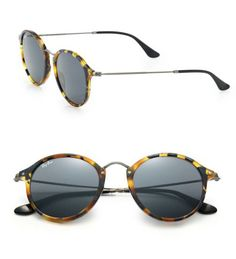 ad035c2322 Ray-Ban 55MM Round Sunglasses Blue Tortoise  49.00 Ray Ban Round Sunglasses