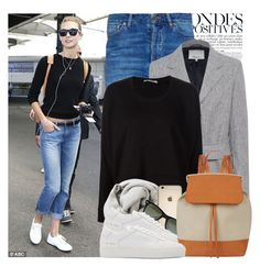 """""""Karlie Kloss - Nice Airport in France 12.5.2015"""" by annamari-a ❤ liked on Polyvore featuring Anja, Maison Margiela, 3.1 Phillip Lim, T By Alexander Wang, Brunello Cucinelli, Ray-Ban, Common Projects and Mansur Gavriel"""