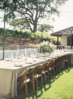 Neutral Outdoor Winery Reception Decor | photography by http://www.ryleehitchnerblog.com