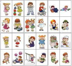 Глаголы в картинках для детей.