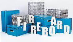 FIBREBOARD - Produkte aus der Serie Fibreboard eignen sich für alle Einsatzbereich, ob im Kinderzimmer, im Büro oder in anderen Wohnräumen. Durch das vielseitige Design der Boxen ist Abwechslung garantiert.