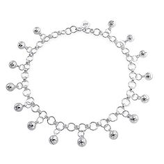 Bling Jewelry 925 Sterling Jingle Bells Bead Charm Anklet Bracelet 10in >>> More info @ http://www.amazon.com/gp/product/B0051A0U1S/?tag=splendidjewelry07-20&pmn=180716050859