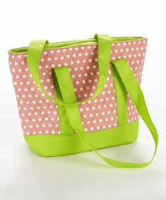 Loving this Pink & Green Anna Insulated Quilted Lunch Tote on #zulily! #zulilyfinds