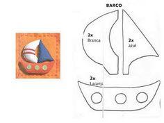 Sailboat applique pattern
