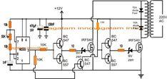 Homemade to Grid-tie Inverter Circuit Electric Circuit, 12v Led, Circuit Projects, Circuit Diagram, Emo, Homemade, Princesa Disney, Download, Grid