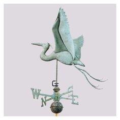 Weathervane - Blue Heron - Polished or Antiqued