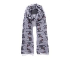 Playful Grey Cats Print - Ladies Fashion Printed Scarf  A long lightweight printed scarf with a fun cat lovers design.  The fabric is a light chiffon style.  This fab oversized scarf can be worn all year round, indoors or out.  It would make a wonderful ladies gift idea as well as a perfect treat for yourself!
