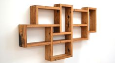 Jam Furniture Box Shelves made from 100yr old reclaimed oak with brass detailing Hall T5 Stand J17