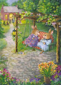 Friends on the Swing...Susan Wheeler