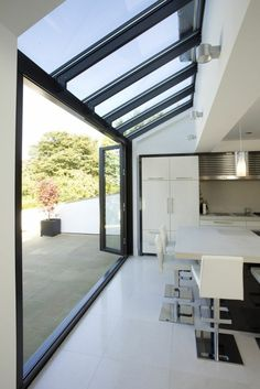 Superb Glass Houses Architecture Ideas - Home Decoration Modern Minimalist, Home, House Exterior, House Design, Bifold Doors, Glass House, New Homes, House Extension Design, House Interior