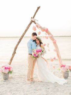 20 Beach Wedding Ceremony Decor Ideas | SouthBound Bride