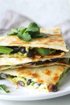 Avocado Black Bean Quesadillas 17 Vegan Recipes People Can't Stop Making