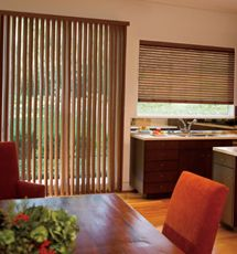 Levolor Visions Faux Wood Vertical Blinds Patio Door Coverings, Patio Door  Blinds, Patio Doors