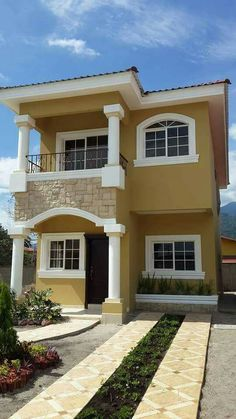 House Outside Design, House Front Design, Small House Design, Cool House Designs, Modern Exterior House Designs, Modern House Facades, Modern House Design, 2 Storey House Design, Bungalow House Design