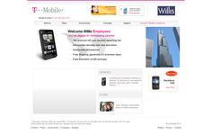 T-Mobile Portal is a corporate ecommerce portal for devices and plans that allows employees of an organization to avail discounts on corporate plans. Snyxius developed this portal and provided the capability for the admin to easily generate mini-websites for specific organizations.  Link: http://www.t-mobileportal.com/willis