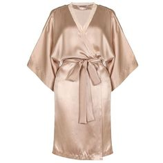 Stella McCartney Lingerie Clara Whispering Short Robe ($330) ❤ liked on Polyvore featuring intimates, robes, sleepwear, short robe, dressing gown, short silk robe, wrap robe and bath robes
