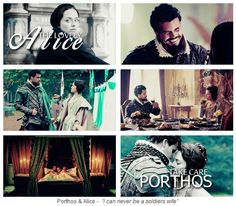 """The Musketeers - 1x08 - The Challenge; Porthos & Alice - """"I can never be a soldiers wife"""""""