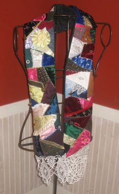 crazy quilt scarf Make this