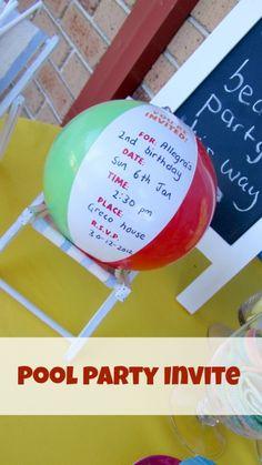 Una invitación super-divertida para una fiesta playa! / A super-fun invite for a beach party!