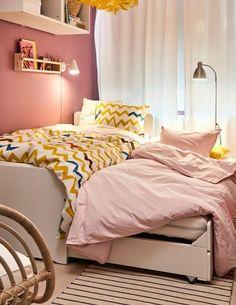 Home Decoration Cheap Ideas Ikea Girls Room, Ikea Kids, Palette, Kid Spaces, Kid Beds, Elle Decor, Home Interior, House Tours, Decoration