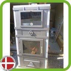 Svendsen 1 houtkachel met speksteen en bakvak met deur.
