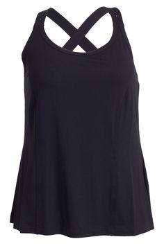 Mega cool Eksklusiv sort top med similisten på stropperne Que Modetøj til Damer til hverdag og fest