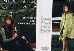 Publicite Advertising 094 1969 Francoise Hardy Fait L'Ouverture 2 Pages | eBay