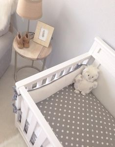 Neutral Nursery Tour - They decided to go with a very neutral - gray + white + beige color palette. As he grows older, he will be able to get use out of his DIY teepee.