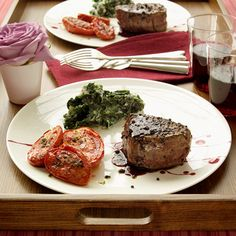 Steak Dinner for Two - I'm Definitely doing this for us this year :D Yummm!!!